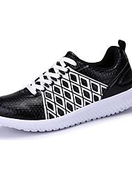 Masculino-Tênis-Conforto-Rasteiro-Branco Cinza Metalico-Couro Ecológico-Casual Para Esporte