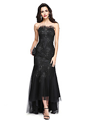 2017 TS Couture® Formal Evening Dress - Sparkle & Shine / Sexy Fit & Flare Jewel Asymmetrical Lace / Tulle with Appliques / Sequins