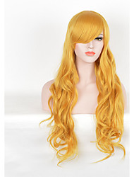 Beautiful Blonde Color Long Cosplay Synthetic Wigs