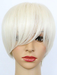 Heat Resistant Beauty Sexy White Color With Side Bang Party Women Full Wig for Daily or Cosplay Wear Wig Cheap