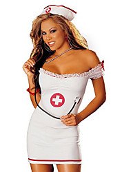 Cosplay Costumes Nurse Movie Cosplay White Solid Dress / Hats Halloween / Carnival Female Polyester