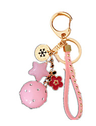 Leisure Hobby Key Chain Circular Metal Pink For Boys / For Girls