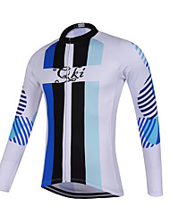 Sports QKI  Cycling Jersey Unisex Long Sleeve Bike Breathable / Quick Dry / Anatomic Design / Sweat-wicking Jersey Polyester