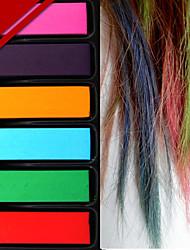 la mode de la décoration du parti temporaire couleur pastel cheveux de teinture rapide chaude craie 6 couleurs / set pour les femmes