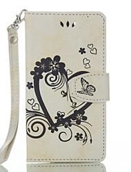 Pour wiko lenny 3 lenny 2 portefeuille en cuir pleine fleur coeur en relief