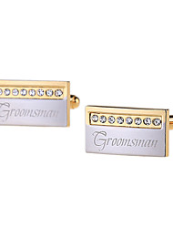 Groom Groomsman Ring Bearer Gifts Piece/Set Cufflinks & Tie Clips Classic ModernWedding Anniversary Birthday Congratulations Graduation