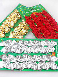 1PC Red Gold And Silver Christmas Decorations Flocking Christmas Bow Decorated Christmas Tree