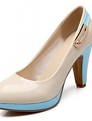 Бежевый Синий-Для женщин-Для офиса Повседневный Для праздника-Дерматин-На шпилькеОбувь на каблуках