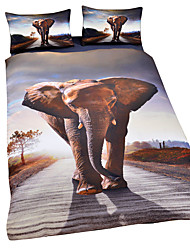 High Quality Elephant 3D Comforters Hot Home Bedlinen Soft 3D Bedding Set Twin Full Wholesale