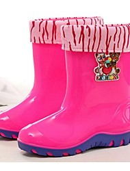 Girls' Boots Comfort PVC Casual Rain Boots Fuchsia Green Blue Royal Blue Flat