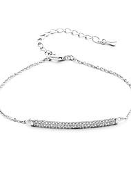 Femme Filles´ Chaînes & Bracelets Zircon Simple Style Argent Or Rose Bijoux 1pc