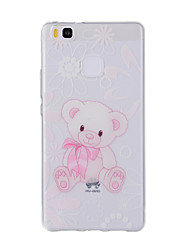 For Huawei Y635 4C 4X 5C 5X P8 P9 P8Lite P9Lite Honor8 Honor7 Honor6 Case Cover Bear Painted Pattern TPU Material Phone Case