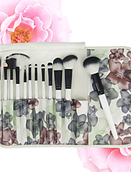 12pcs  Makeup Brushes Set  Contour Brush Blush Brush  Eyeshadow Brush Lip Brush  Brow Brush  Eyeliner Brush  Eyelash Comb (Round)