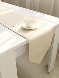 Rectangulaire Solide Chemins de table , Coton mélangé Matériel Hôtel Dining Table / Tableau Dceoration