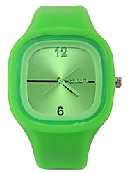 Kids' Fashion Watch Noctilucent Quartz Silicone Band Candy color Casual Red Green