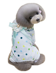 Dog Coat / Hoodie / Clothes/Jumpsuit Blue / Beige Dog Clothes Winter Polka Dots Cute / Keep Warm Lovoyager