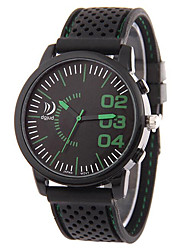 Unisex Fashion Watch Calendar Noctilucent Quartz Silicone Band Casual Black