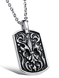 мужской стиль панк кулон ожерелье шарма нержавеющей стали 316l ретро высекая собака ювелирные изделия тег