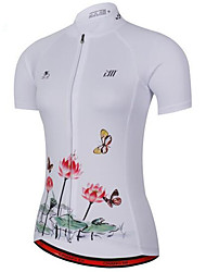 Cycling Jersey Women's Short Sleeve Bike JerseyQuick Dry Anatomic Design Breathable Soft Lightweight Materials Back Pocket