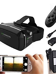 VR Glasses Cardboard Virtual Reality Case Headset with 3D Mini Camera Lens Make 3D Movie Game for Mobile Phone with Controller with Android OTG