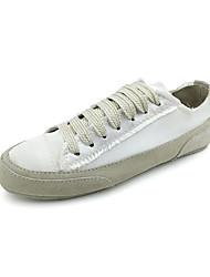 Damen-Sneaker-Lässig-Seide-Plateau-Komfort-Weiß / Champagner