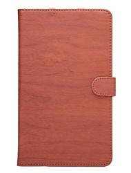 Caso del patrón de madera de alta calidad de la PU de cuero de 8 pulgadas m2 almohadilla medios Huawei (m2-803l)