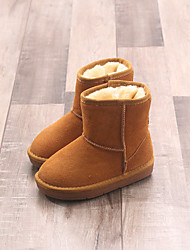 Girls' Boots Comfort Snow Boots Leather Winter Casual Comfort Snow Boots Flat Heel Black Ruby Blue Camel Dark Brown Flat