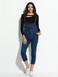 Damen Jumpsuits - Einfach / Street Schick Ärmellos Baumwolle Unelastisch