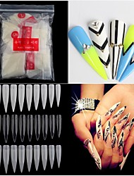 500pcs Nude White False Nail Art Tips French Acrylic UV Salon Nail Art Tools