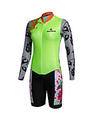 2016 Malciklo Ropa Ciclismo Mujeres Bicycle Jersey Women Long Sleeve Flower Patterns Cycling Triathlon Skinsuit Cycling Clothing