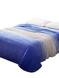 Plush Blue Printed Curve 100% Polyester Blankets