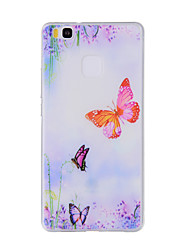 For Huawei Y635 4C 4X 5C 5X P8 P9 P8Lite P9Lite Honor8 Honor7 Honor6 Case Cover Butterfly Painted Pattern TPU Material Phone Case