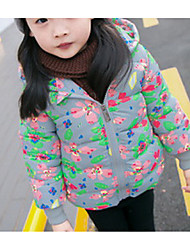Girl Casual/Daily Print Suit & Blazer,Wool Winter Long Sleeve
