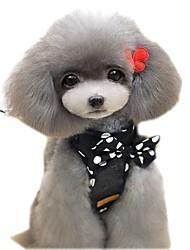 Gatos / Cães Arreios / Trelas Segurança / Macio / Corrida / Colete / Casual Sólido / Pontos Polka / Personagens Vermelho / Preto Tecido
