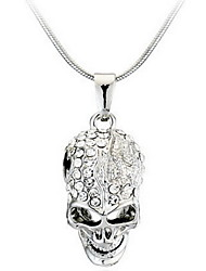 Men's Women's Pendant Necklaces Skull / Skeleton Alloy Fashion Personalized Jewelry For Casual