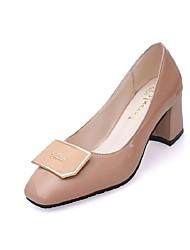 Women's Heels Spring / Summer / Fall Heels / Outdoor / Dress Chunky Heel Beading Black / Blue / Almond Walking