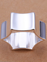 Jewelry Women Hexagon Silver Ring Sterling Silver Statement Rings