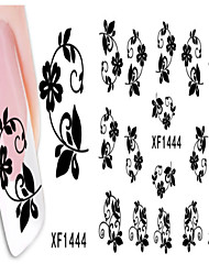 3 Sheet Nail Art Sticker Water Transfer Decals Makeup Cosmetic Nail Art Design