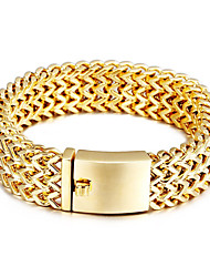 Kalen New Fashion 316 Stainless Steel 18K Italian Gold Plated Link Chain Bracelets High Polished Mesh Bracelets Men's Accessory Gifts