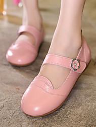 Girls' Flats Comfort Cowhide Casual Comfort Yellow Ruby Blushing Pink Flat