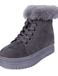 Women's Boots Increased Within Thick Winter Comfort Suede Outdoor / Casual Platform Lace-up