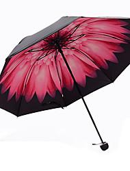 Rosa Guarda-Chuva Dobrável Sombrinha Plastic Carrinho