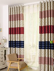 One Panel Curtain Country , Animal Kids Room Polyester Material Curtains Drapes Home Decoration For Window