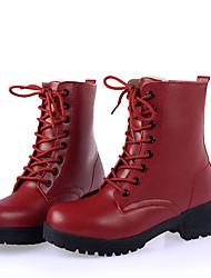 Damen Stiefel Komfort Modische Stiefel Stiefeletten Leder Frühling Herbst Winter Normal Komfort Modische Stiefel Stiefeletten Schnürsenkel
