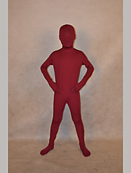 Festival/Holiday Costumes Wine Red Solid Zentai Kid Lycra Fully Covered