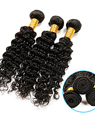 Brazilian Virgin Hair Deep Wave 3 Bundles Brazilian Deep Curly Hair 100% Human Hair Brazilian Virgin Hair Weaves