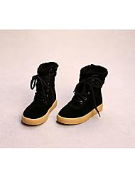 Черный / Красный / Кофе-Для девочек-Для прогулок-КожаOthers-Ботинки