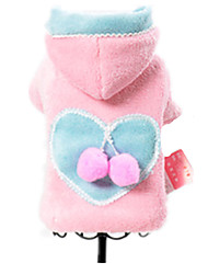 Dog Coat Dog Clothes Winter Spring/Fall Hearts Casual/Daily