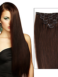 Full Head Clip in Human Hair Extensions.70grams & 120 grams Weight (7pcs/set & 8pcs/set)  Silky Straight Brazilian virgin Multi-ply Colors