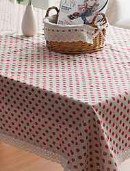 Square Toile Table Cloth , Linen Material Hotel Dining Table / Table Decoration / Home Decoration
